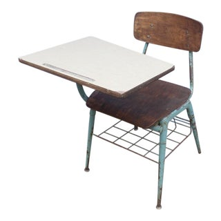 1960s Rustic Student Desk For Sale
