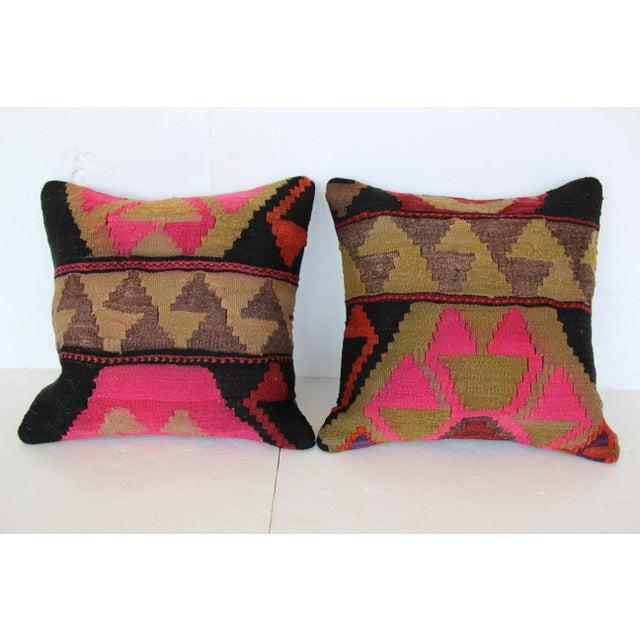 Turkish Kilim Cushions - a Pair - Image 3 of 4