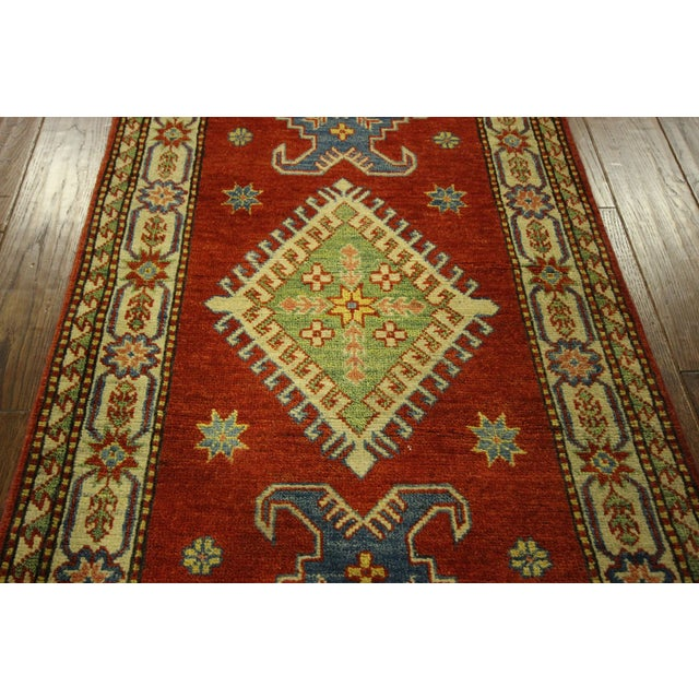 "Shirvan Red Kazak Runner Rug - 2'8"" x 9'6"" - Image 7 of 10"