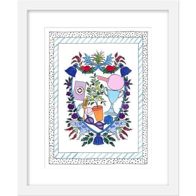 "Medium ""'Fun Prevails' Heraldry"" Print by Rachel Rogers, 17"" X 21"" For Sale"