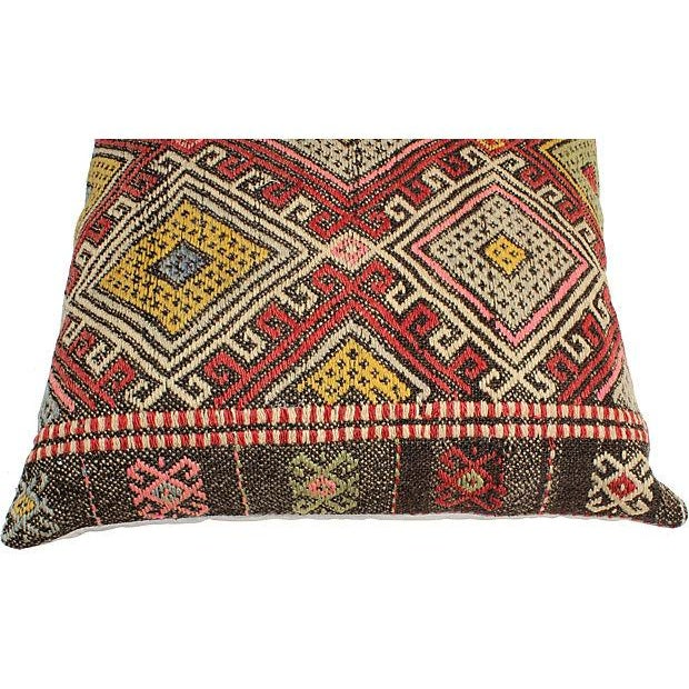 Vintage Turkish Kilim Floor Pillows - A Pair - Image 6 of 6