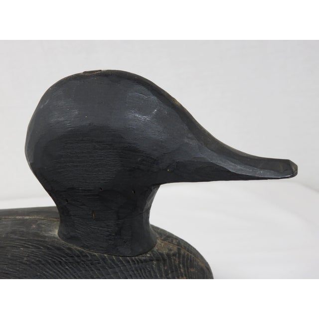 Early 20th Century Vintage American Folk Art Carved Wood Decoy For Sale - Image 9 of 13