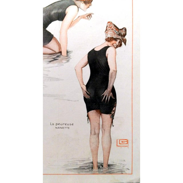 1918 La Vie Parisienne Bathing Beauty Print - Image 7 of 7