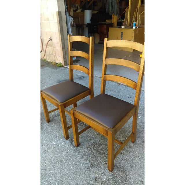 Traditional Ladder Back Side Chairs - A Pair For Sale - Image 3 of 5