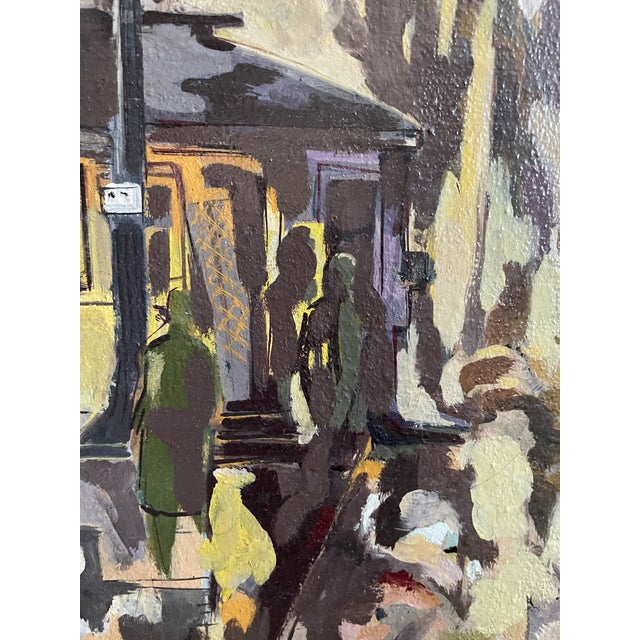 1954 Modernist Figurative Oil Painting by Louis Safer, Framed For Sale In Minneapolis - Image 6 of 12