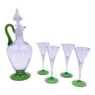 Late 20th Century Cambridge Decanter Set - 5 Pieces For Sale