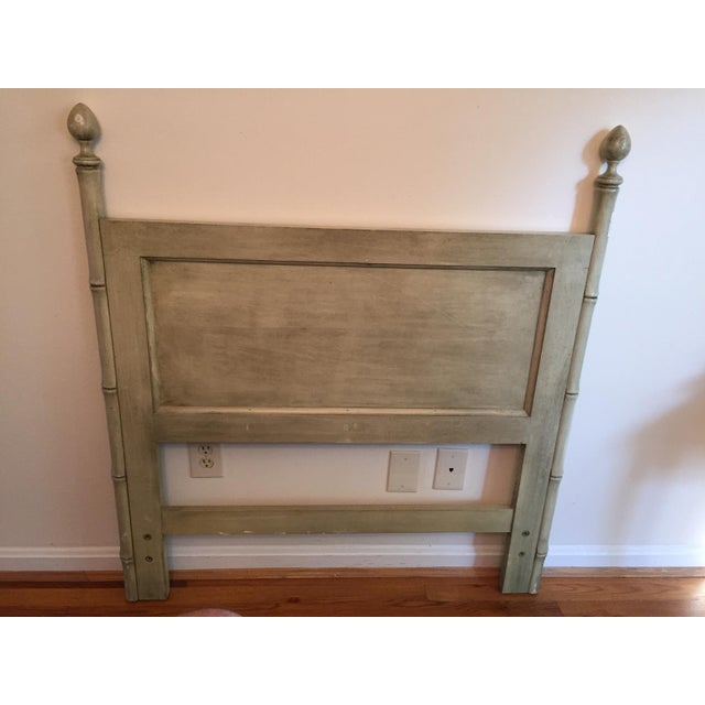 Ficks Reed Furniture Light Green Headboard Chairish