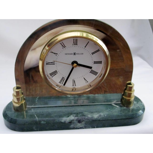 Howard Miller Clock with Green Marble Base - Image 2 of 8