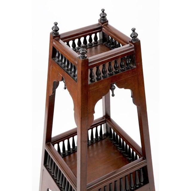 Antique English Regency Mahogany and Ebonized Wood Etageres For Sale - Image 4 of 7