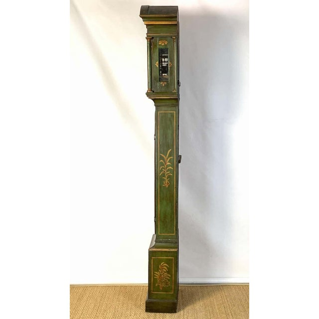George III Chinoiserie Decorated Long Case Clock For Sale - Image 4 of 13