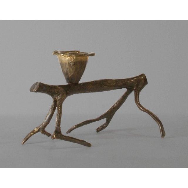 "Robert Lee Morris 1990s Robert Lee Morris ""Horizontal Walking Tree"" Candle Holder For Sale - Image 4 of 4"