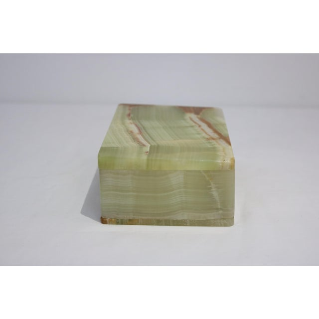 Late 20th Century Mid-Century Marbled Onyx Box For Sale - Image 5 of 7