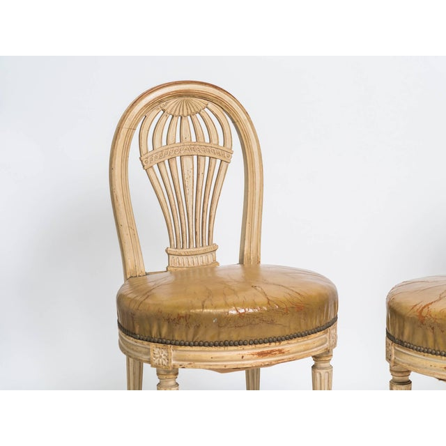 Wood 1920s Vintage French Hot Air Balloon Side Chairs- a Pair For Sale - Image 7 of 8