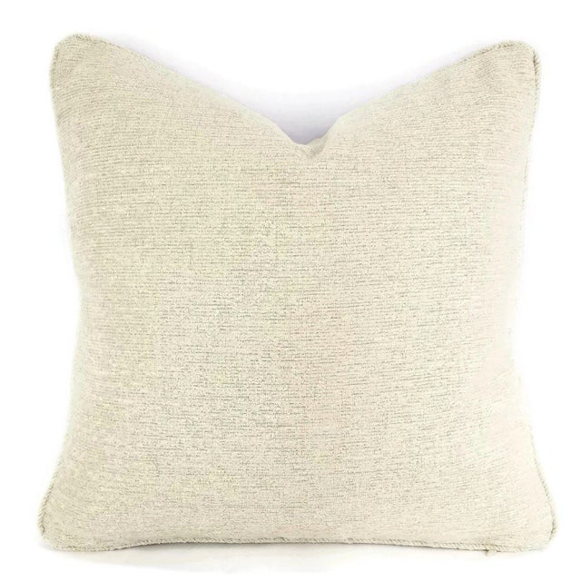 Not Yet Made - Made To Order Holly Hunt Dalai Lama Himalayas Cream Chenille Pillow Cover For Sale - Image 5 of 5