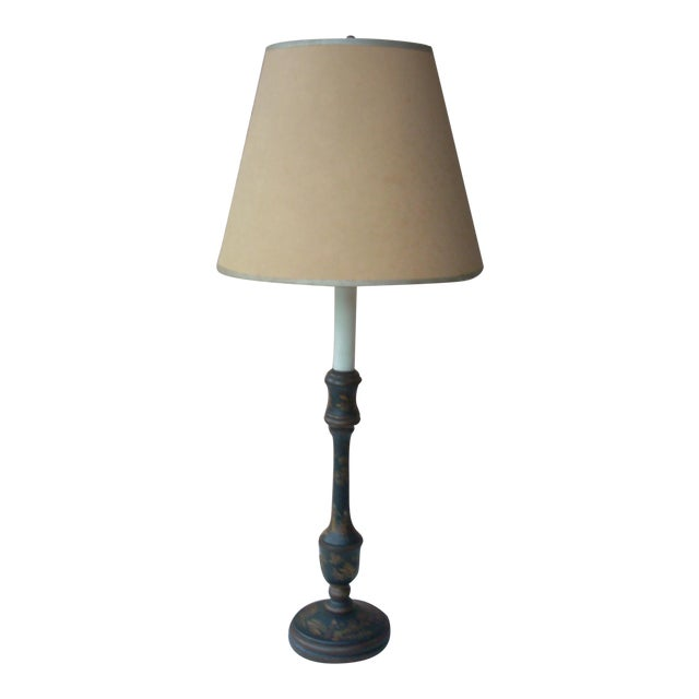 Chinoiserie Candlestick Table Lamp For Sale