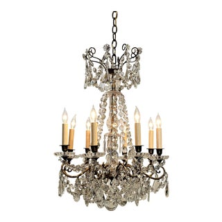Louis XVI Style Eight-Light Chandelier, Circa:1850, France For Sale