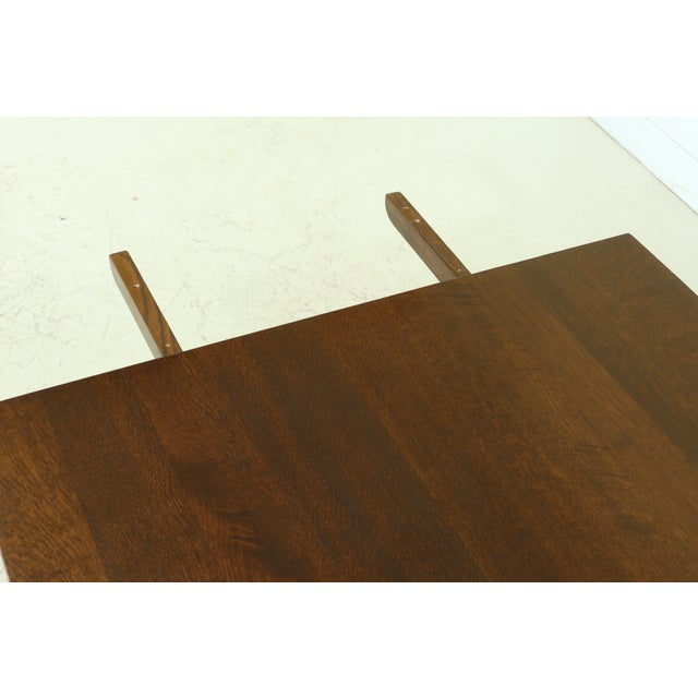 Stickley Mission Oak Mousehole Dining Room Table For Sale In Philadelphia - Image 6 of 13