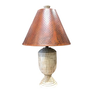 Sarreid Tessellated Bone Lamp For Sale