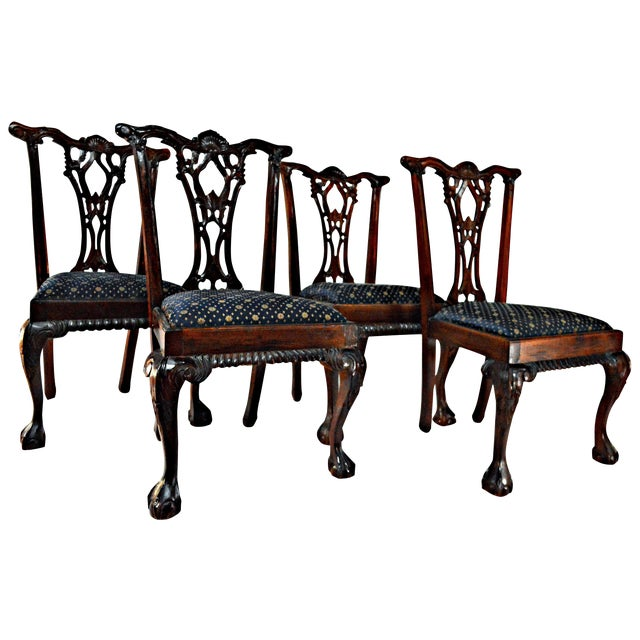 Chippendale Mahogany Dining Chairs - Set of 4 - Image 1 of 9