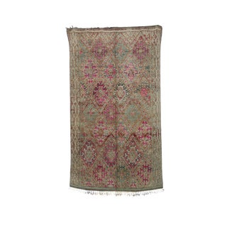 """1970's Vintage Moroccan Boujad Rug- 5'9"""" X 9'8"""" For Sale"""