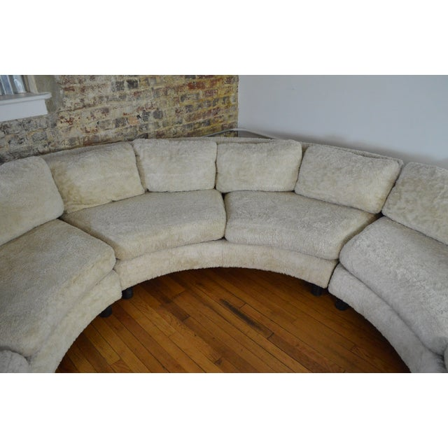 Textile Amazing Milo Baughman Mid Century Modern Sectional Pit Sofa For Sale - Image 7 of 10