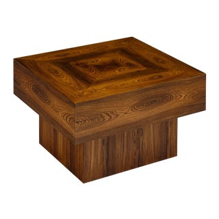 Cubist French Wood Side Table For Sale