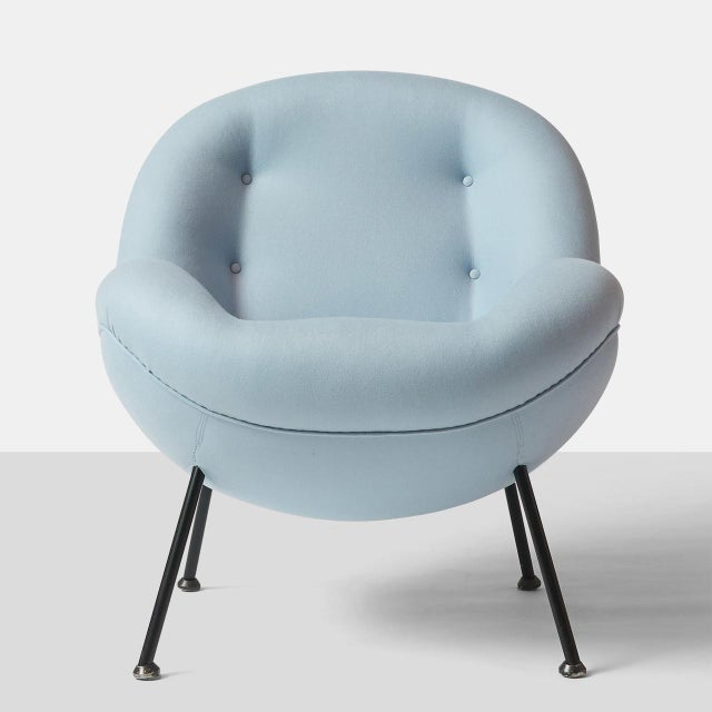 """Fritz Neth An """"Egg"""" Chair by Fritz Neth For Sale - Image 4 of 8"""