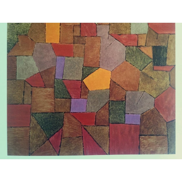 """Abstract Paul Klee Vintage 1967 Authentic Abstract Lithograph Print """"Mountain Village Autumnal"""" 1943 For Sale - Image 3 of 8"""