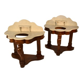 Mid 19th-Century English Washstands-Pair For Sale