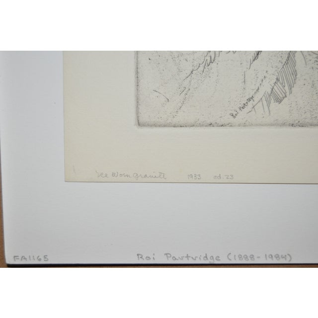 "Lodge ""Ice Worn Granite"" Vintage Etching by Roi Partridge For Sale - Image 3 of 6"