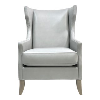Modern Gray/Blue Accent Chair For Sale