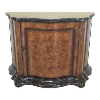 Ralph Lauren Marble Top Continental Console Cabinet For Sale