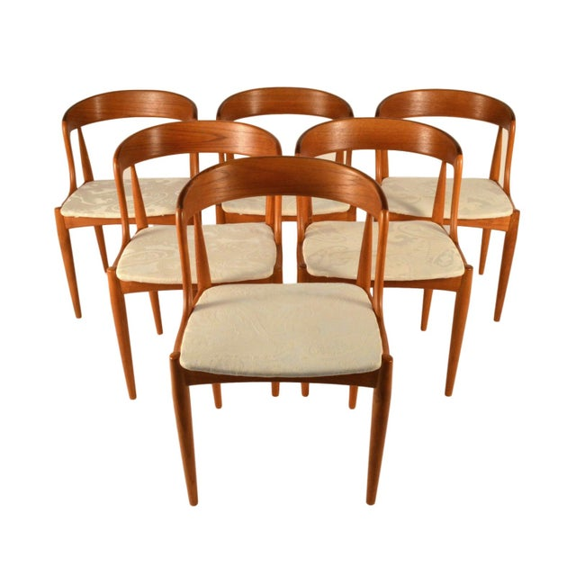 Johannes Andersen Teak Dining Chairs- Set of 6 - Image 1 of 6