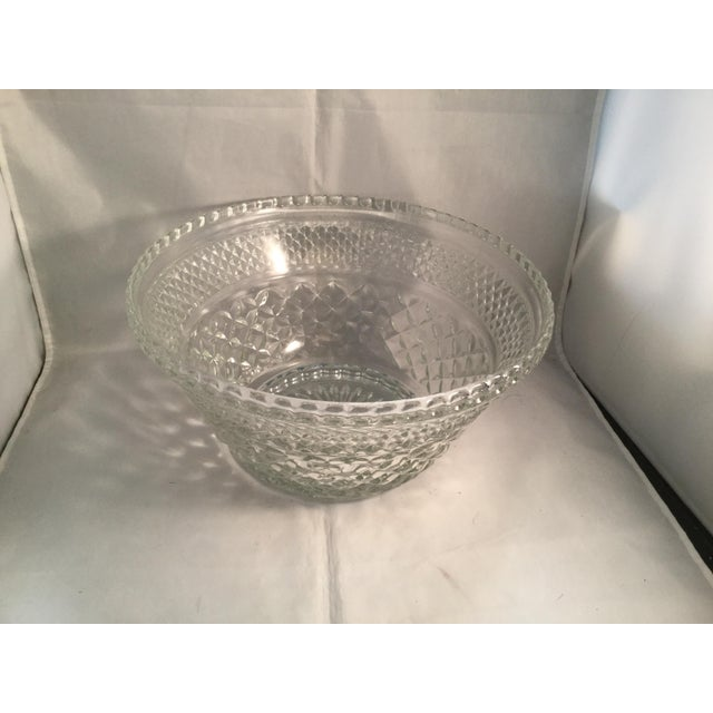 Diamond Cut Pattern Crystal Bowl For Sale - Image 10 of 10