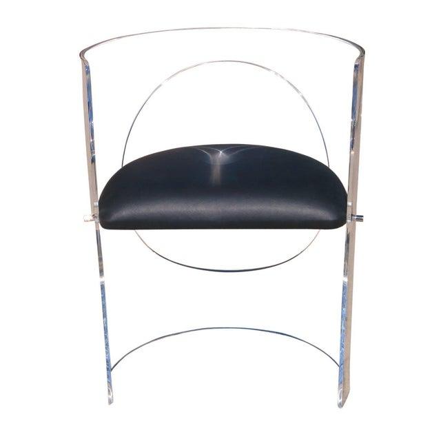 Charles Hollis Jones Charles Hollis Jones 1960s Style Designed Lucite Chair For Sale - Image 4 of 8