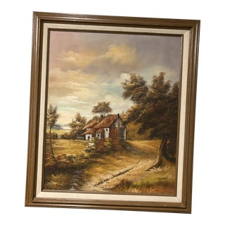 Mid Century Oil on Canvas by R. Turner For Sale