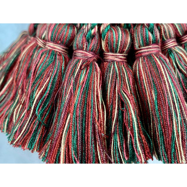 Large Vintage Houlés of Paris Key Tassel in Red and Green For Sale In West Palm - Image 6 of 7