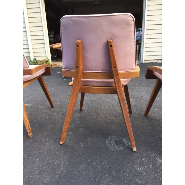 Pink John Keal by Brown Saltzman Dining Room Chairs - Set of 4 For Sale - Image 8 of 9
