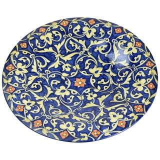 Italian Hand-Painted Centerpiece Dish, 1930-1940 For Sale
