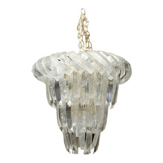 Mid-Century Unusual Acorn Shape Lucite Chandelier For Sale