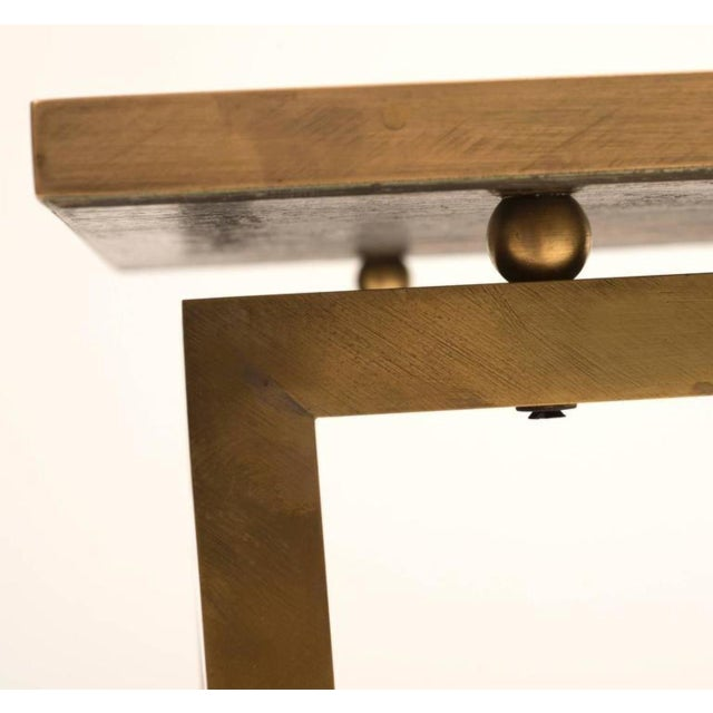 Asian 1960s Ming Philip and Kelvin LaVerne Bronze and Pewter Side Table For Sale - Image 3 of 10