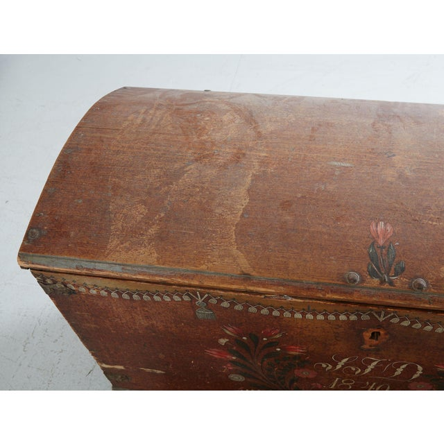 19th Century Gustavian/Swedish Wooden Wedding Chest For Sale - Image 4 of 5