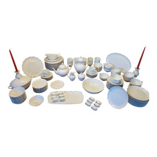 1980's Kaiser Romantica White Porcelain China Dinnerware - 125 Pc. Set For Sale
