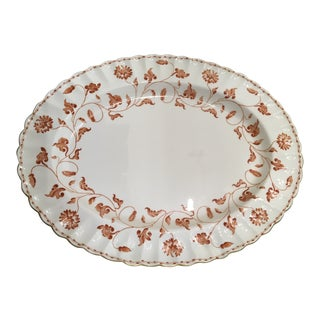 "English Spode Serving Platter 16 1/2"" Red Colonel Vintage For Sale"