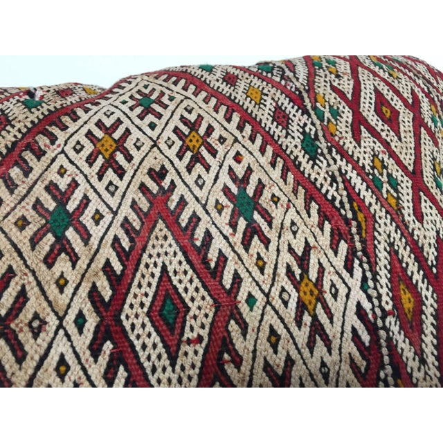 Moroccan Berber Pillow With Tribal African Designs For Sale - Image 9 of 13