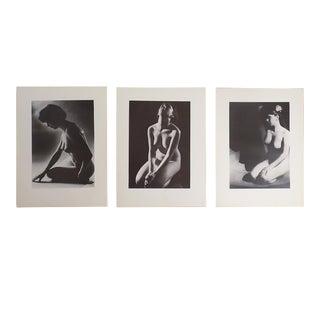 Vintage Ltd. Ed. Photogravures - Female Nudes -1965 - Folio Size - Set of 3 For Sale