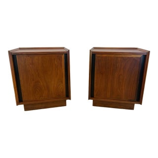 1950s Dillingham Esprit Mid-Century Modern Nightstands - a Pair For Sale