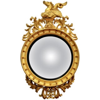 Monumental William IV Convex Bullseye Mirror For Sale