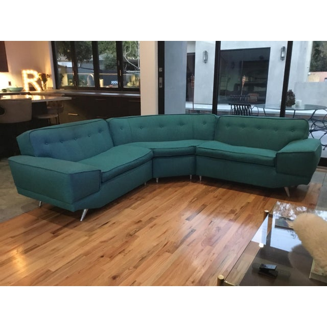 Mid Century Sectional Sofa For Sale In Los Angeles - Image 6 of 10