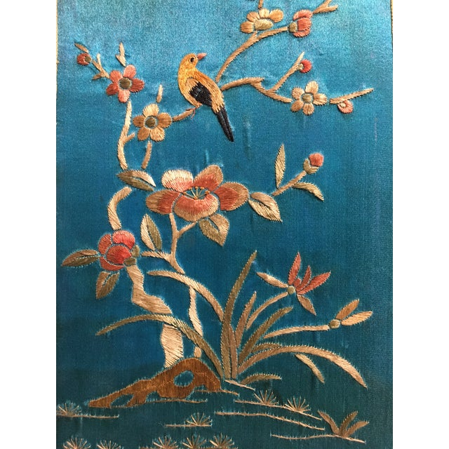 Chinoiserie Silk Embroidered Tea Caddy, circa 1920's For Sale - Image 9 of 9